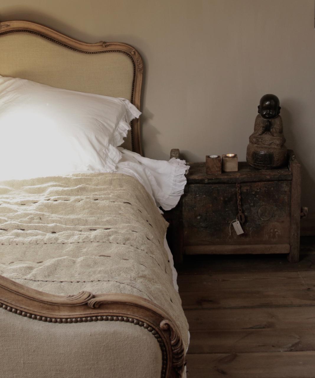 Wabi Sabi Quilted Hemp blanket mattress-2