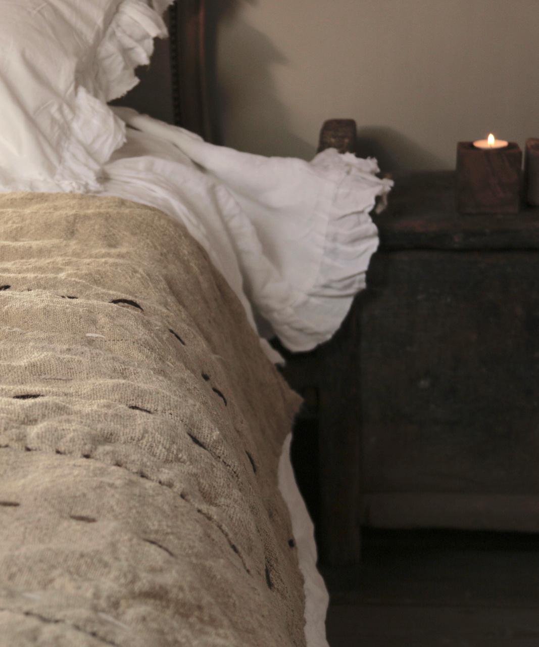 Wabi Sabi Quilted Hemp blanket mattress-4