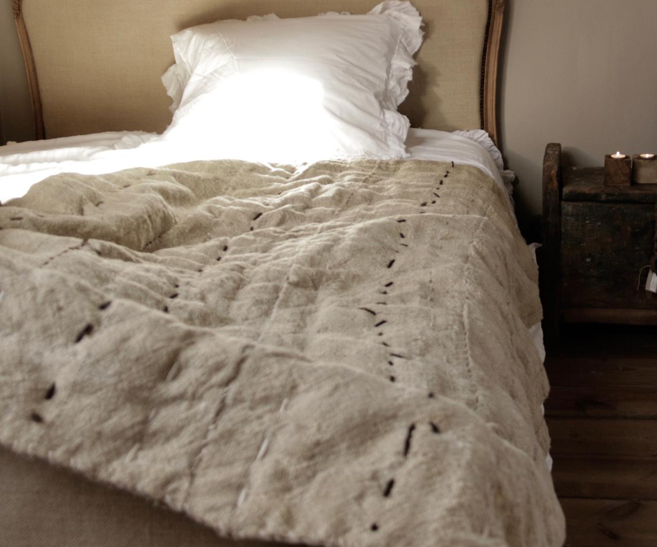 Wabi Sabi Quilted Hemp blanket mattress-1
