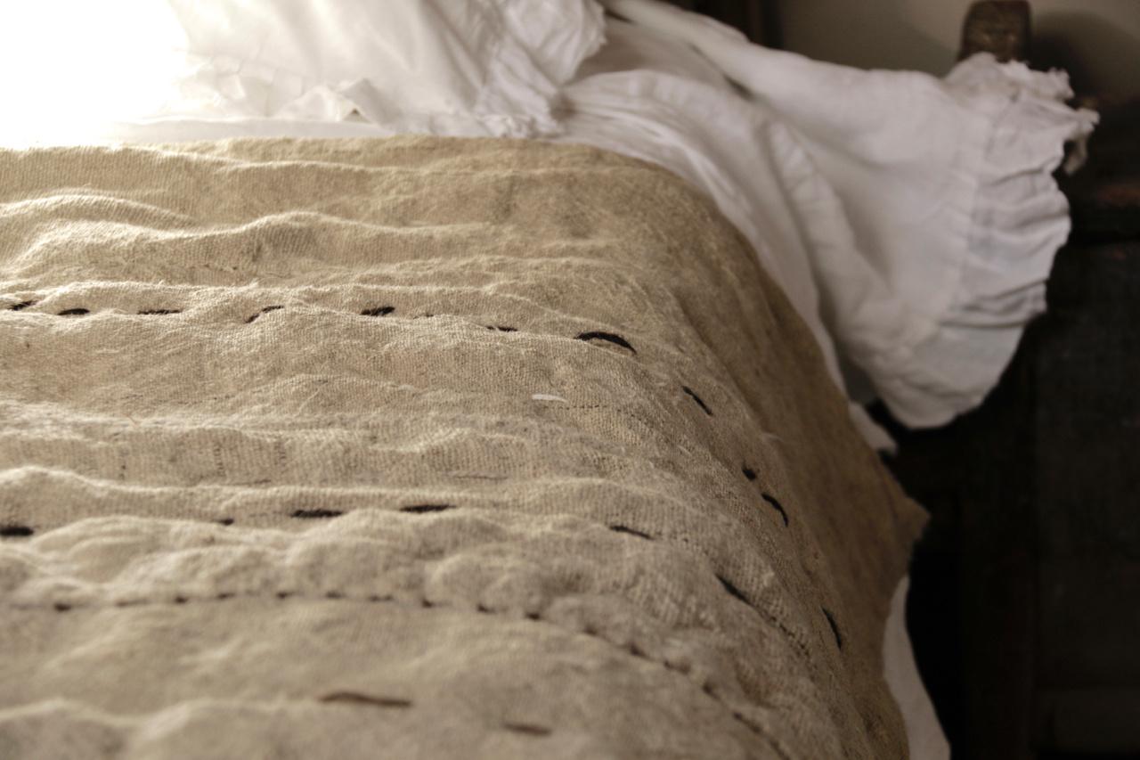 Wabi Sabi Quilted Hemp blanket mattress-7