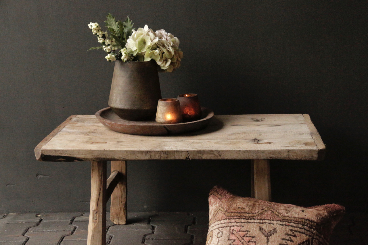 Old Authentic wooden Coffee table-2