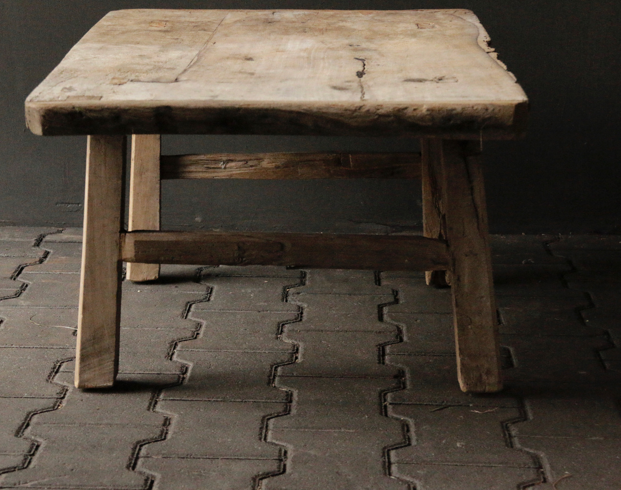 Old Authentic wooden Coffee table-4