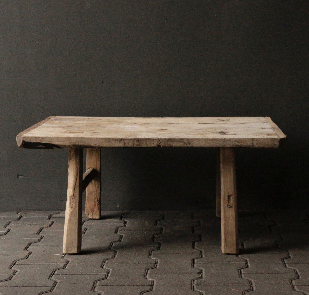 Old Authentic wooden Coffee table-6
