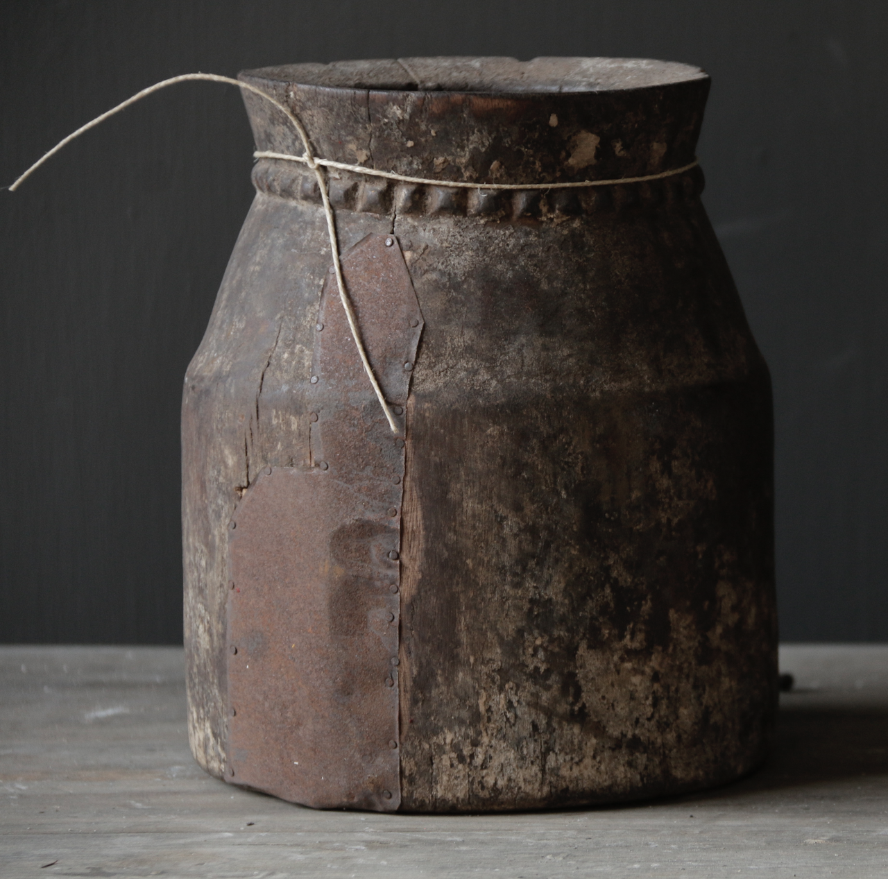 Old wooden Nepalese Jug-3