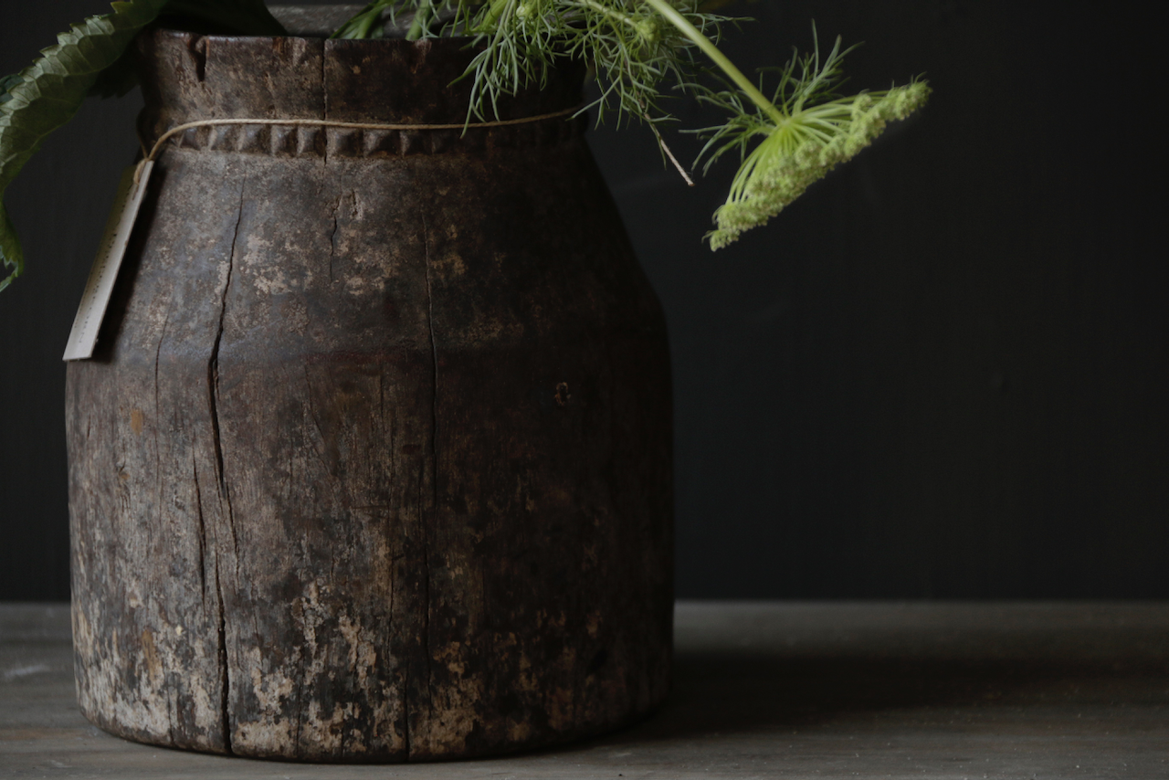 Old wooden Nepalese Jug-4