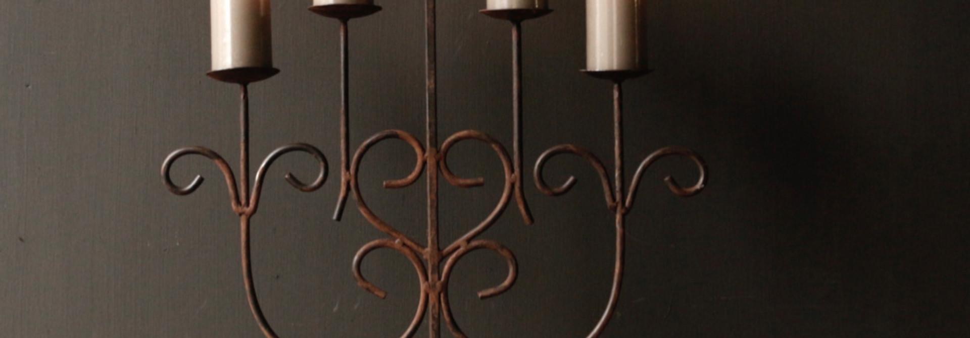 Iron Castle Kerzenhalter mit fünf Armen