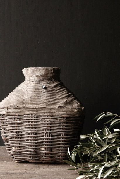 Wicker Nepalese Clay Jug