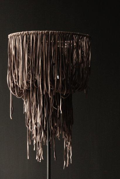 Lampenschirm aus Leder