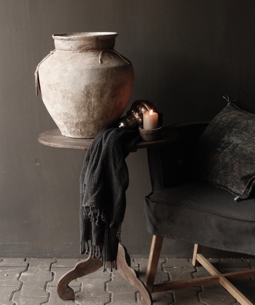 Donker houten Wijntafeltje met ovaal blad-6