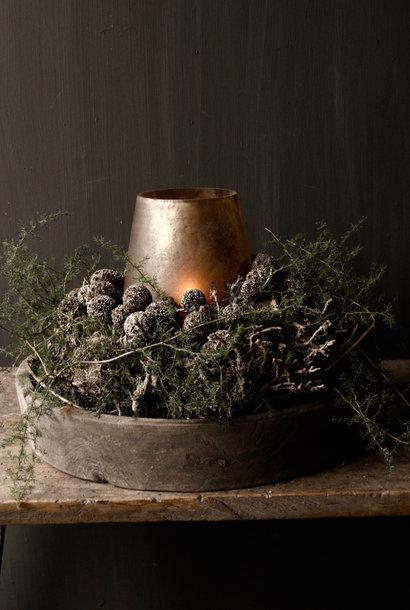 Mesh Glitter dried fruit bronze