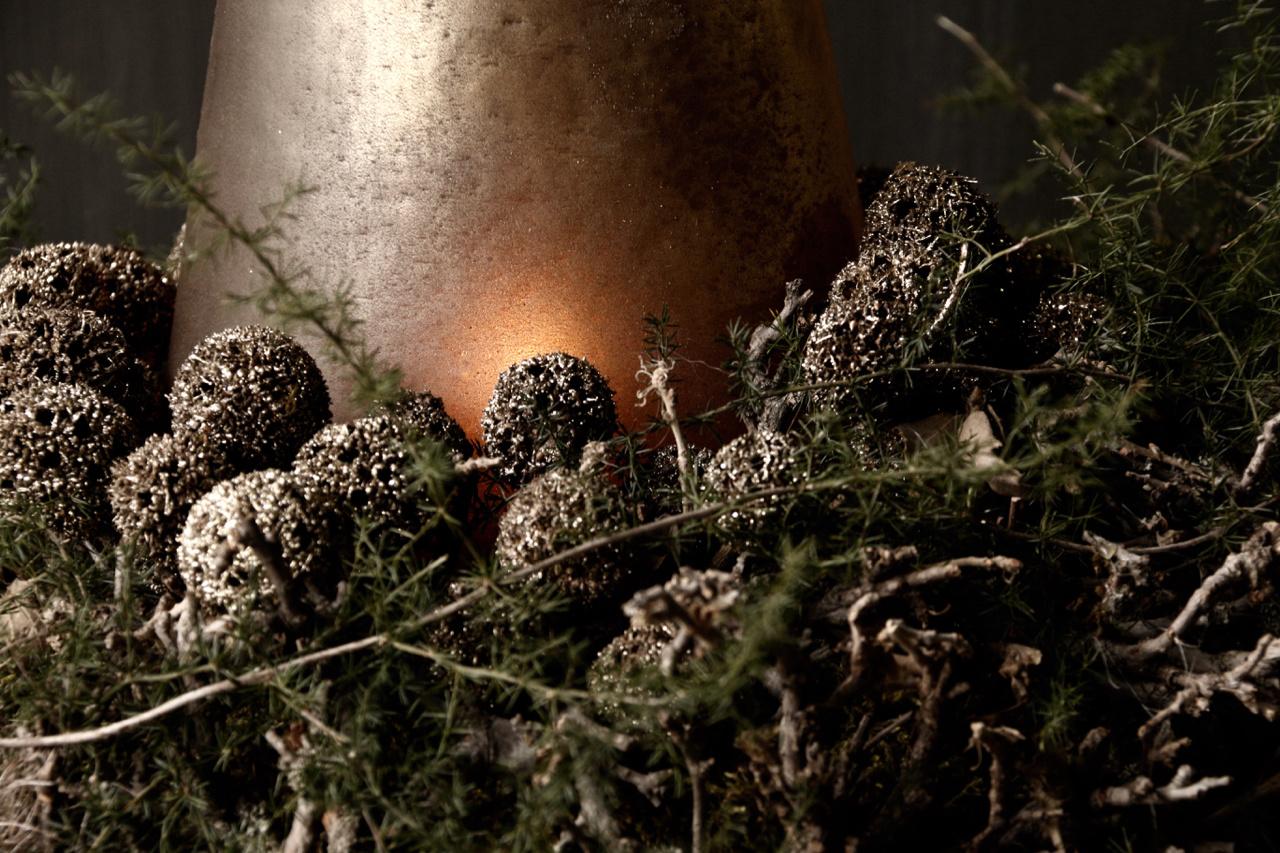 Netje Glitter  gedroogde vruchten brons-3