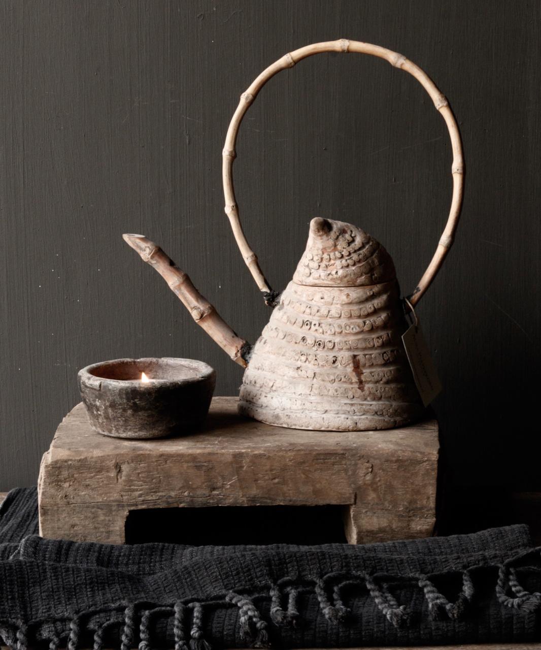 Unique antique bamboo tea pot-1