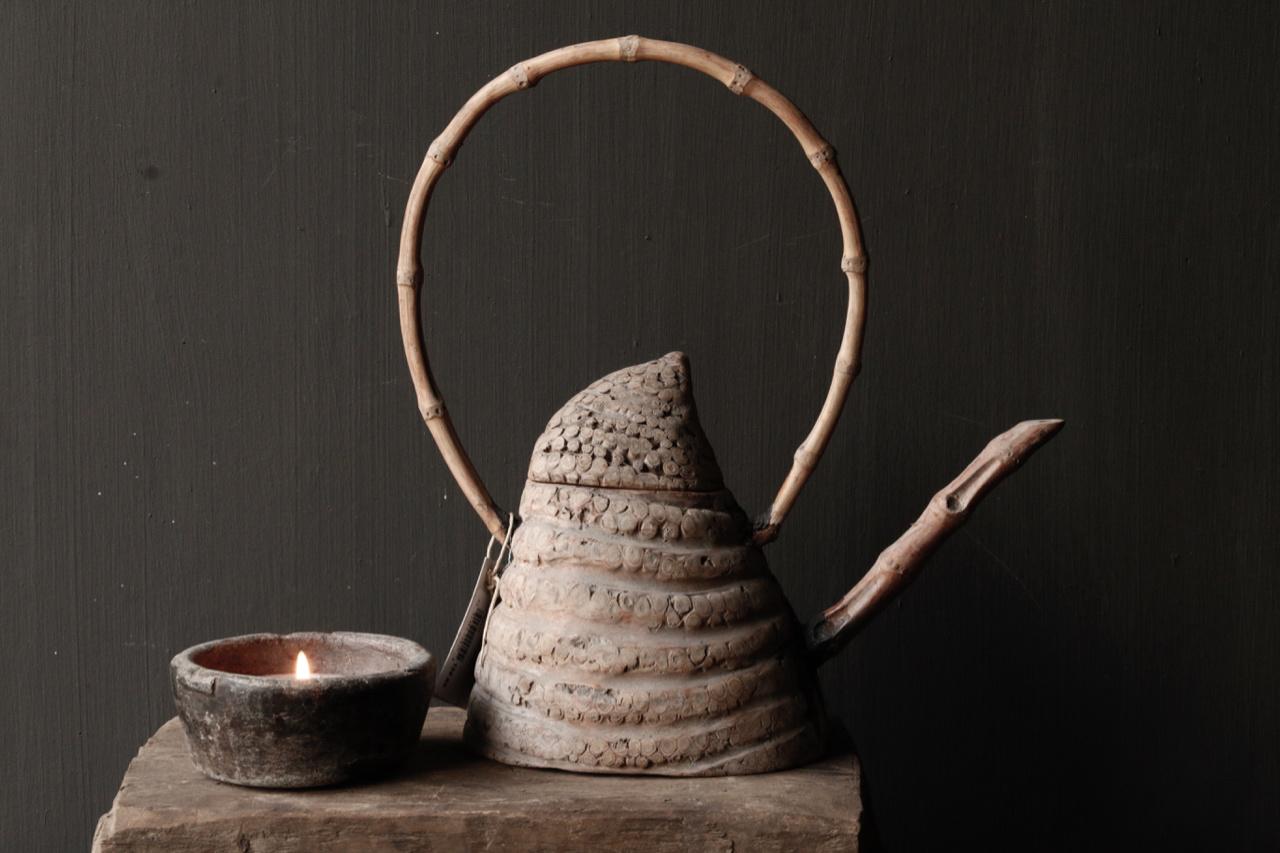 Unique antique bamboo tea pot-2