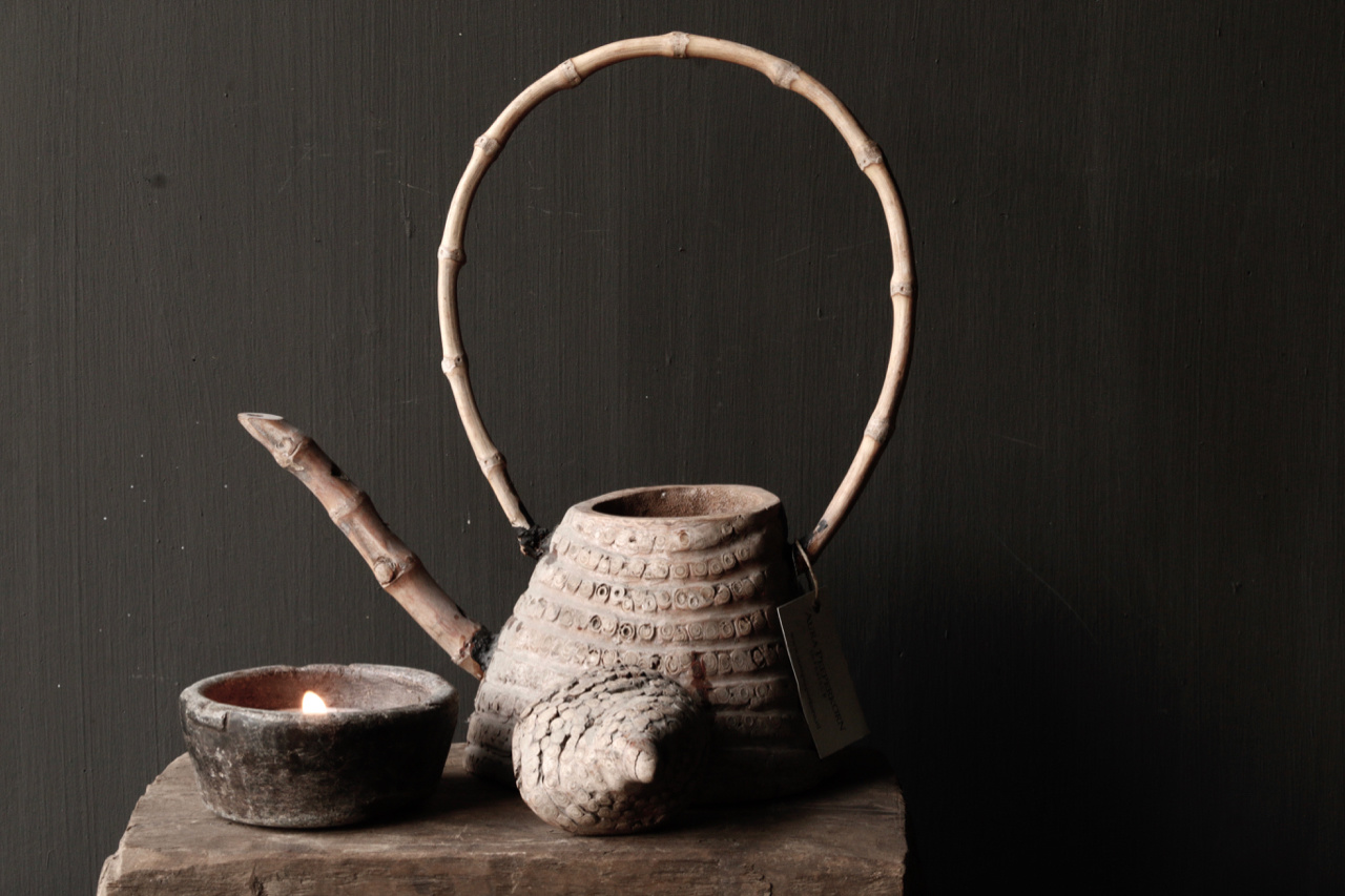 Unique antique bamboo tea pot-3