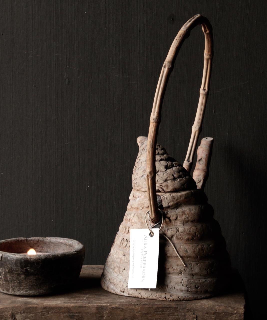 Unique antique bamboo tea pot-4