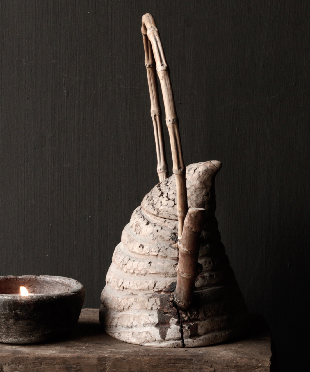 Unique antique bamboo tea pot-5