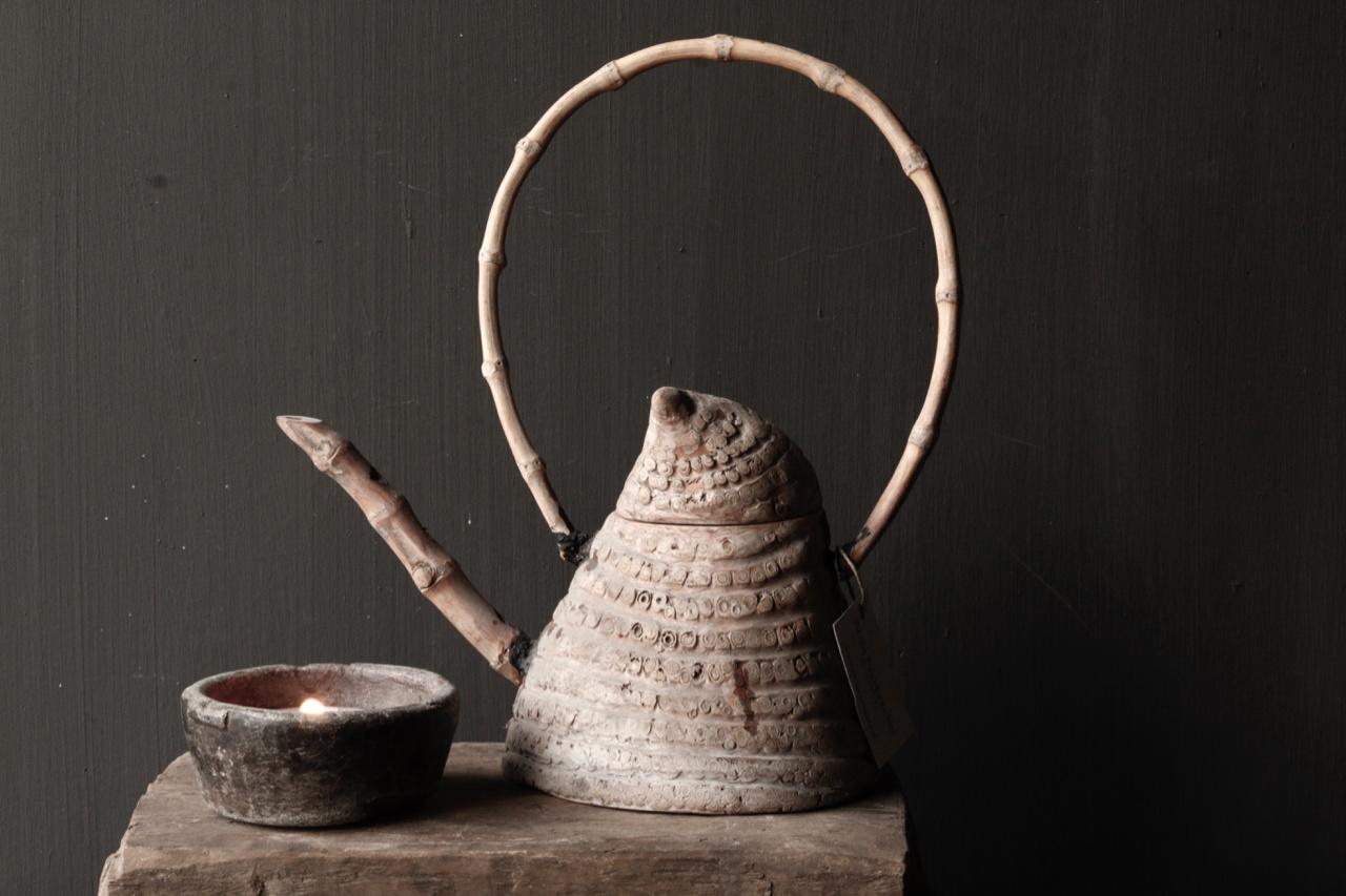 Unique antique bamboo tea pot-6