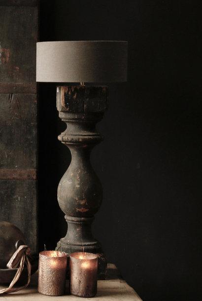 Wunderschöner alter Lampensockel aus Holz von Authentic Baluster