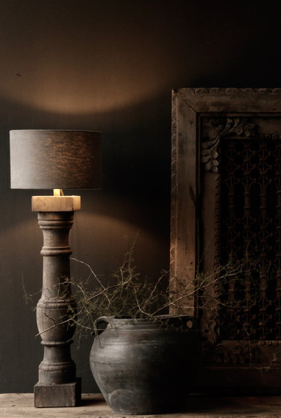 Beautiful Old Wooden lamp base from Authentic Baluster