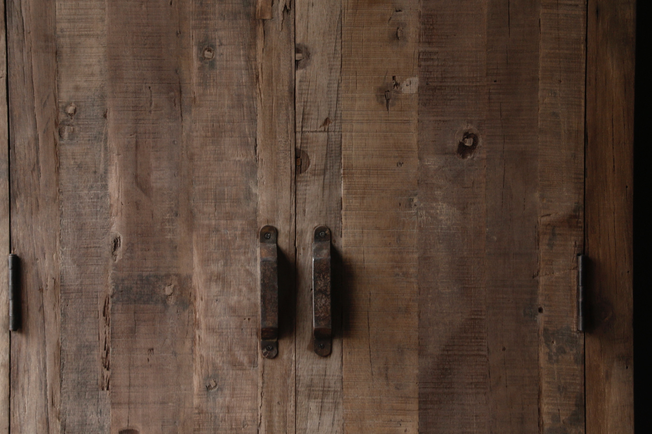 Beautiful Tough old wooden two door closet-6