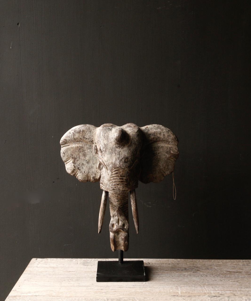 Indische hölzerne Elefantverzierung auf Stahlunterseite-3