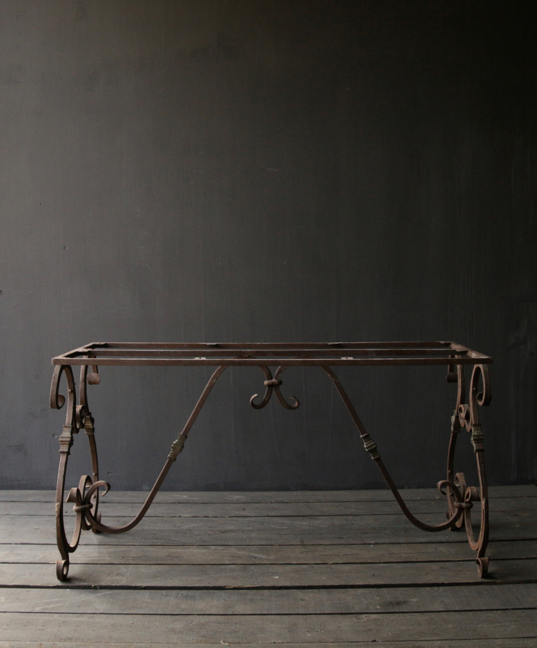 iron table frame french model with curls-3