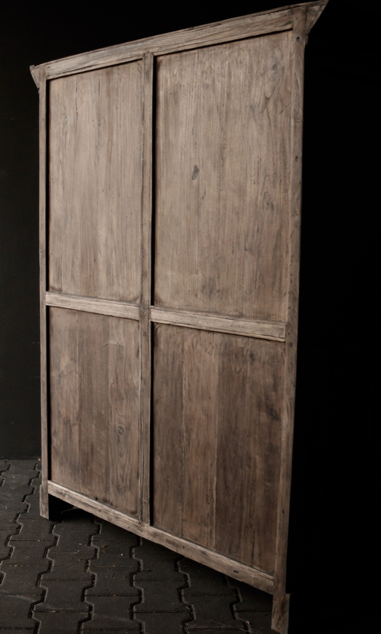 Prachtig Stoer Landelijk oud houten kast-3