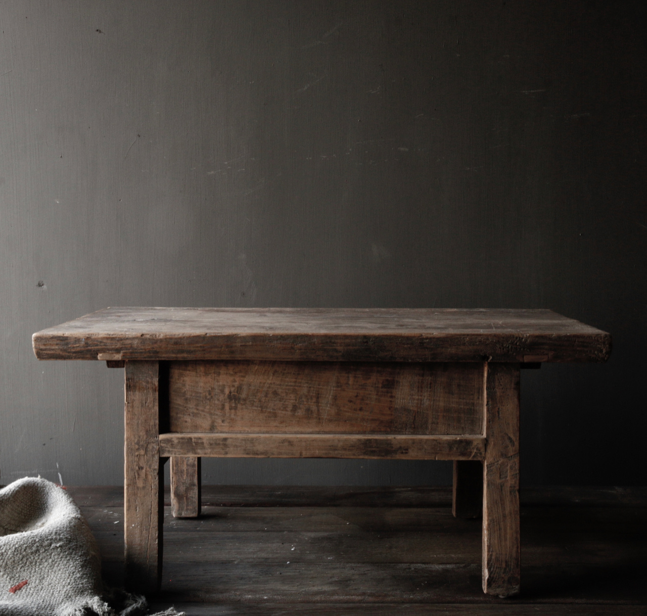 Old wooden table with a drawer-2