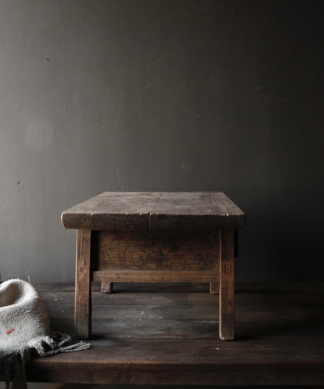 Old wooden table with a drawer-4