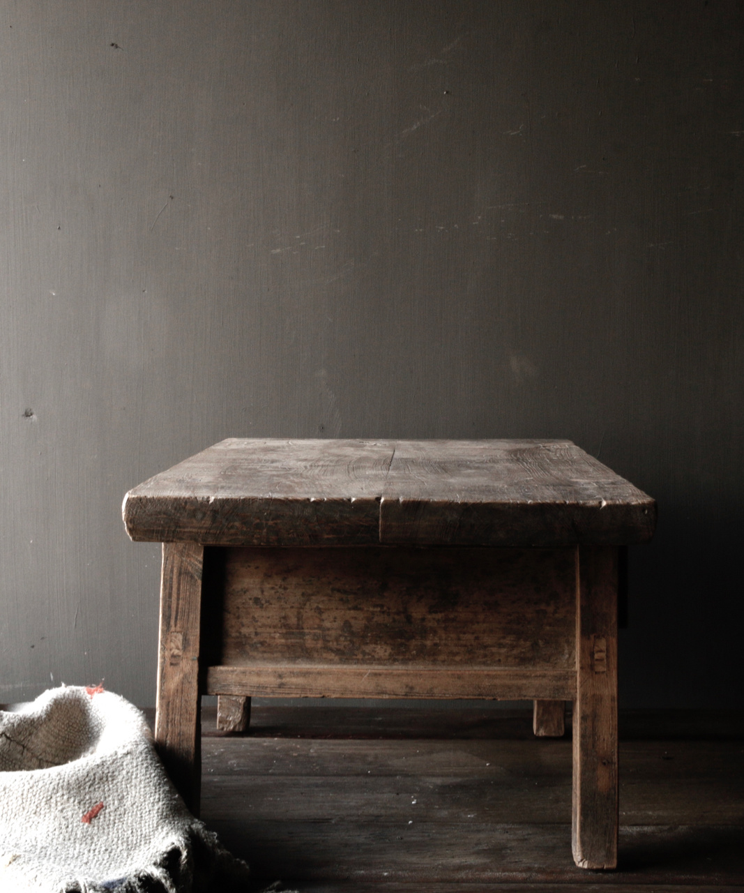 Old wooden table with a drawer-5