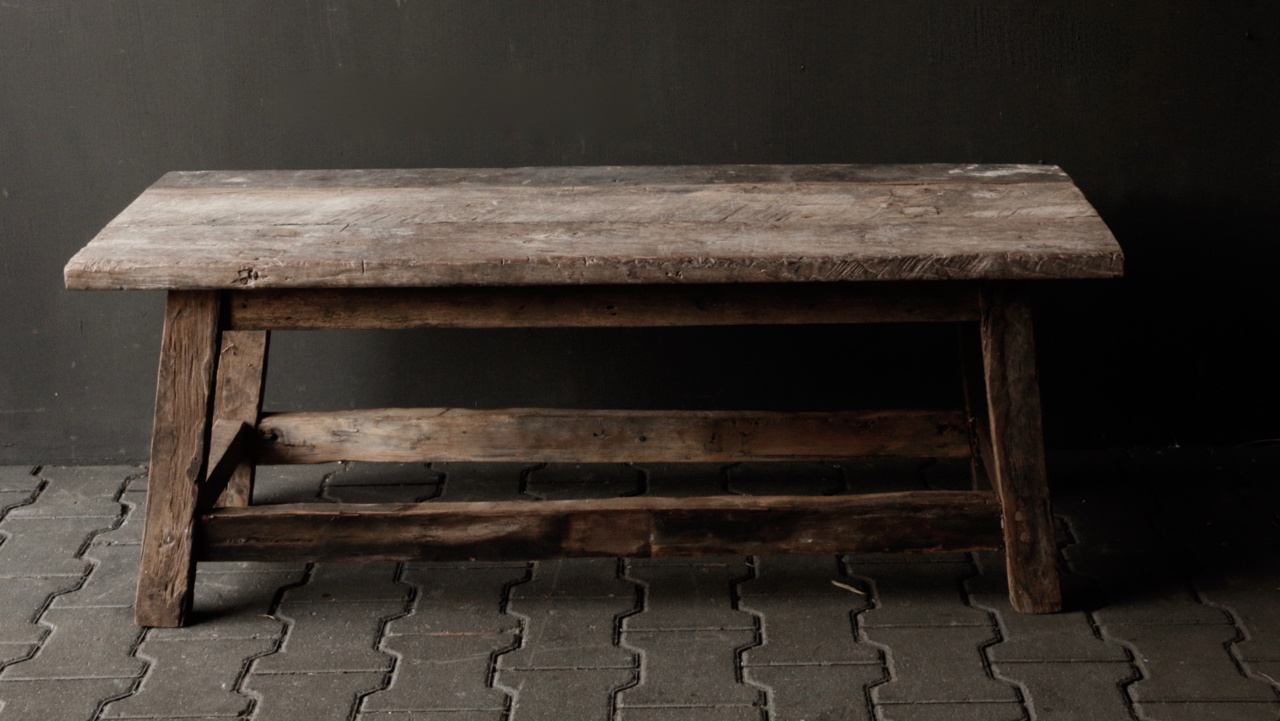 Coffee table made in India from old used wood-3
