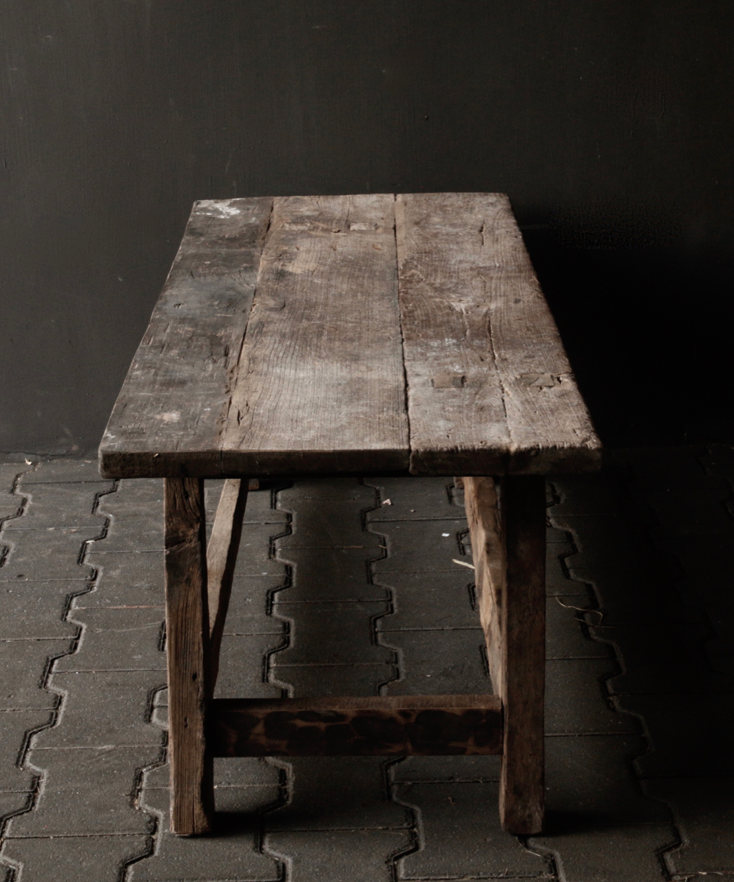 Coffee table made in India from old used wood-6
