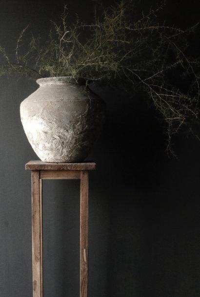 Oud Houten planten tafeltje