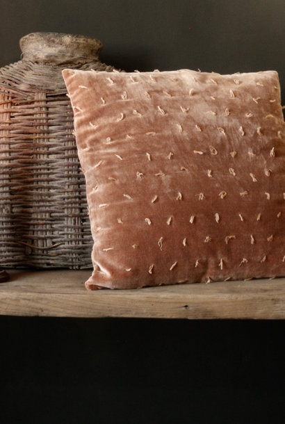 Velor Cushion cover in the color salmon / orange