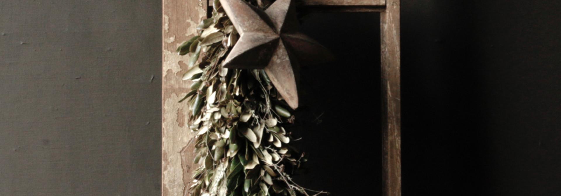 guirlande met houten ster