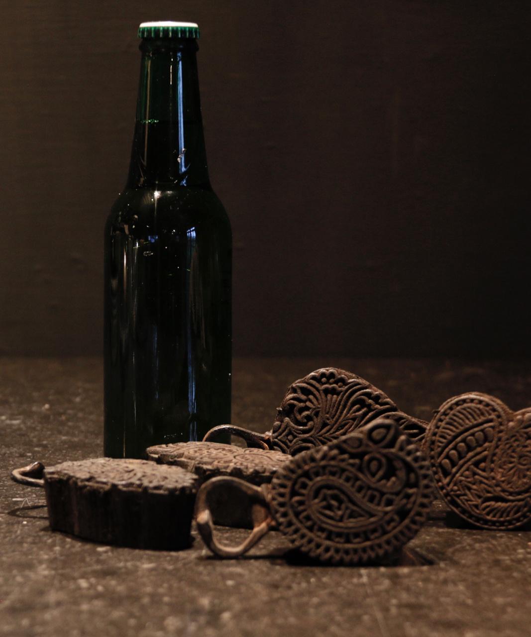 Flaschenöffner hergestellt vom alten Batikstempel-3
