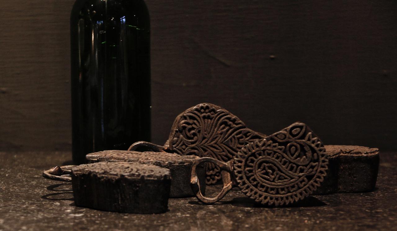 Flaschenöffner hergestellt vom alten Batikstempel-2
