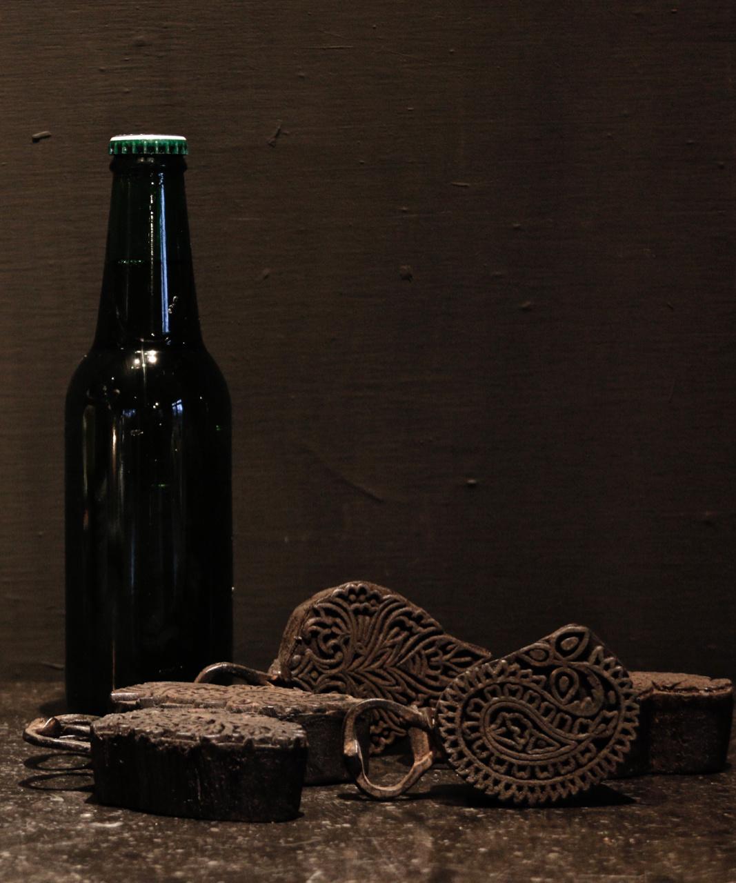 Flaschenöffner hergestellt vom alten Batikstempel-1