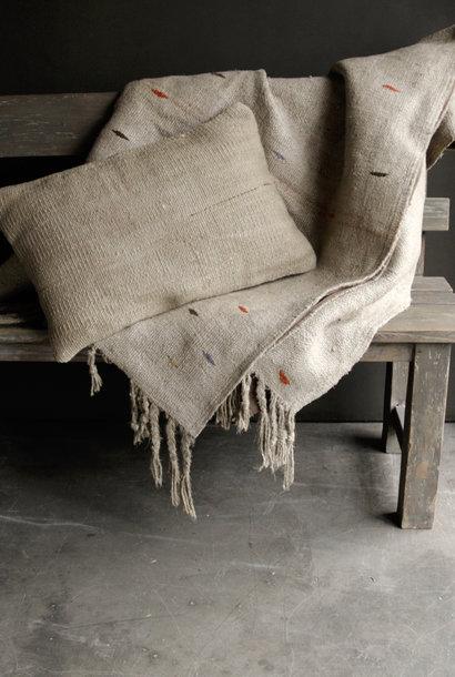 Prachtig Stoer Carpet / hennep kelim Vloerkleed/Wandkleed