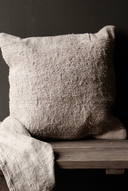 Beautiful sturdy Greige coarse Hemp cushion