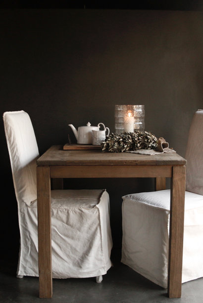 Square teak dining room table