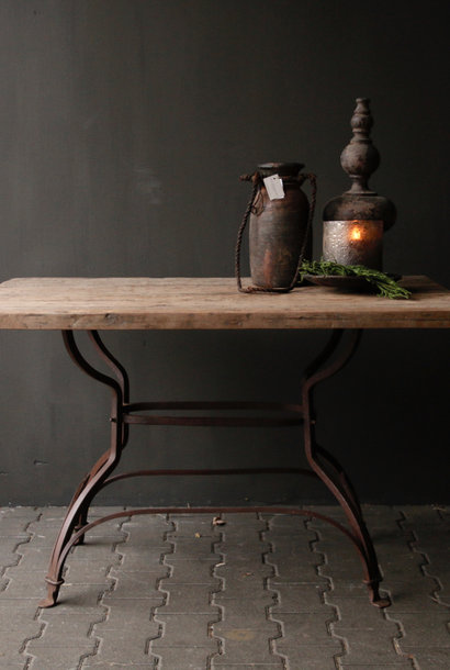 Loosely robust old wooden table top