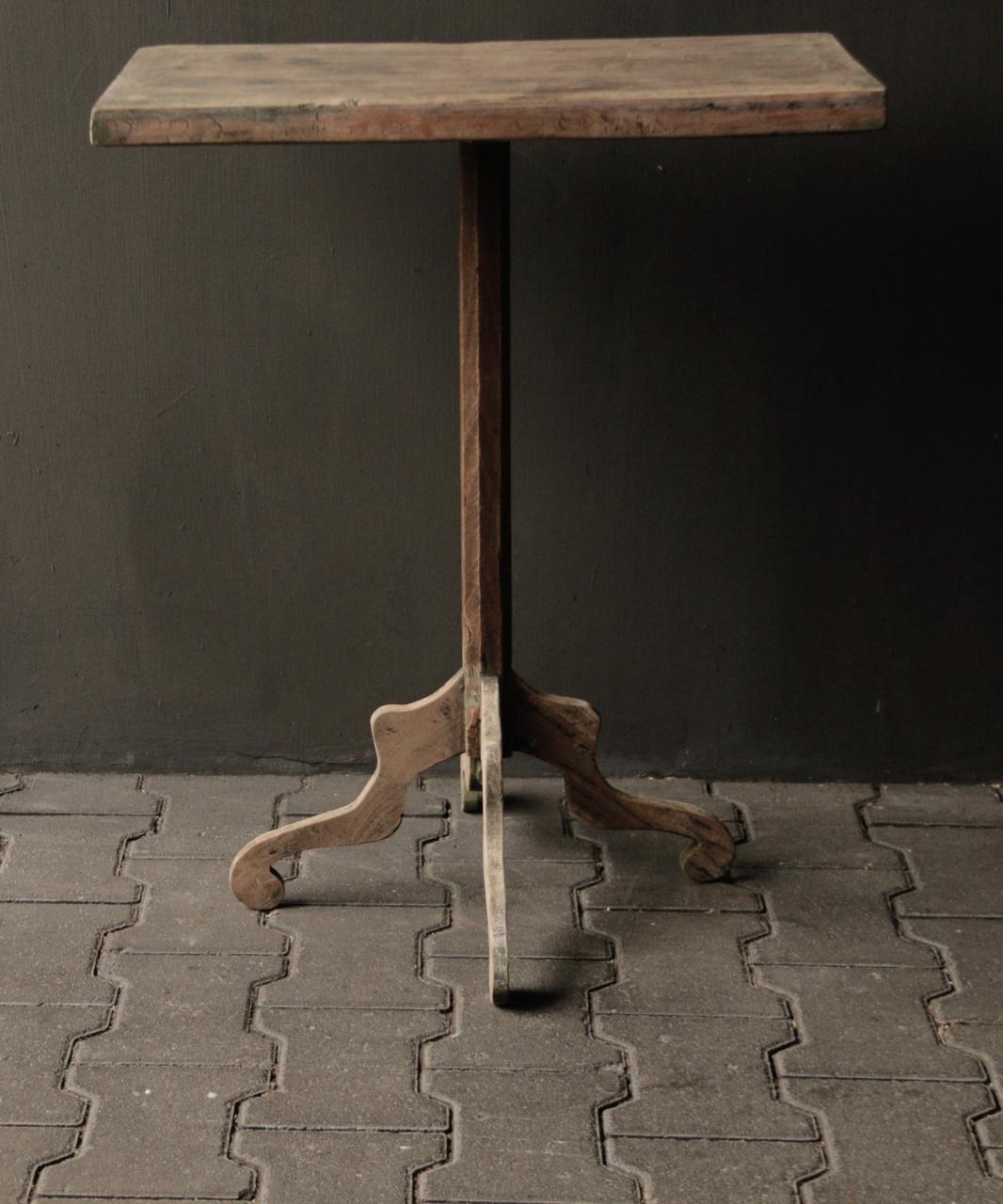 Authentischer alter hölzerner Weintisch-2