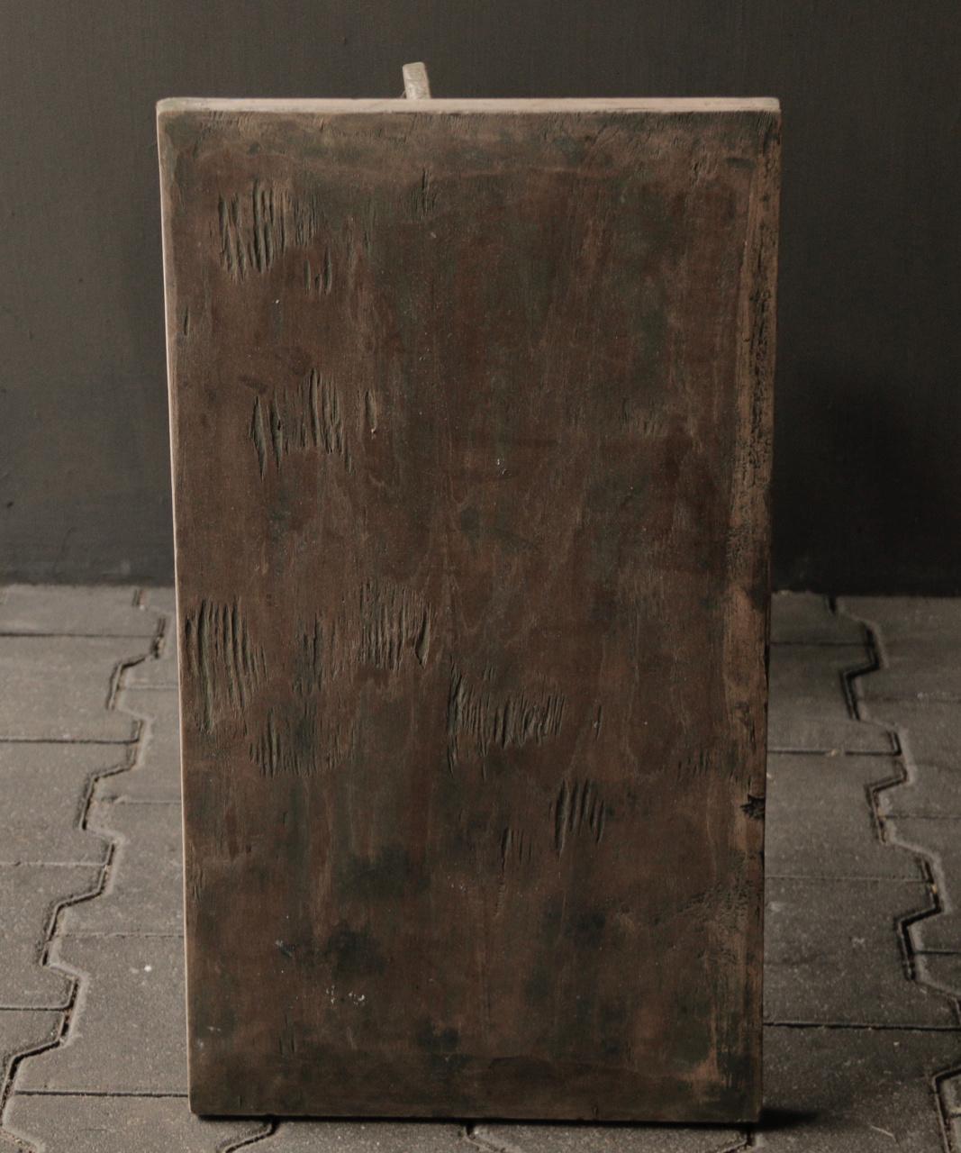 Authentischer alter hölzerner Weintisch-6