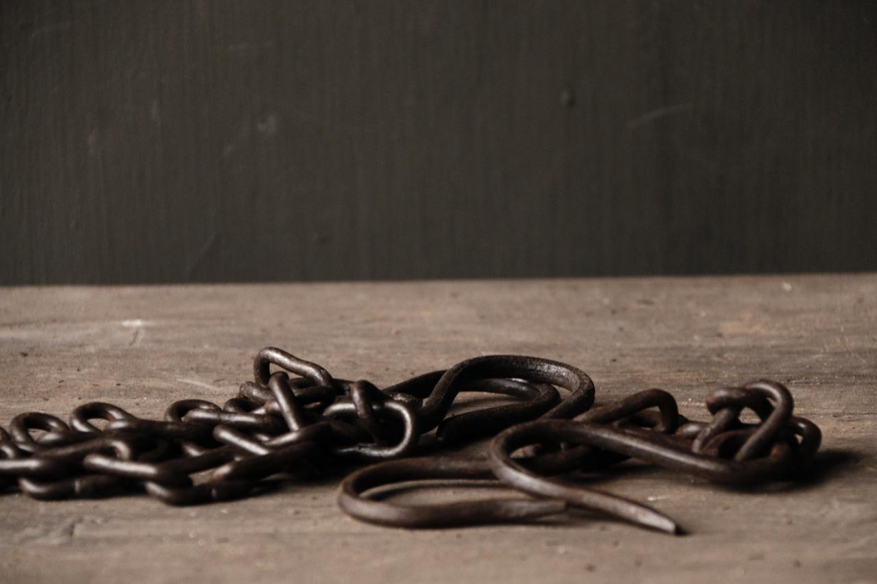Eisenkette mit Haken-1