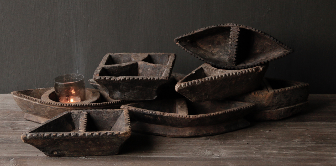 Old Nepalese wooden spice box-2