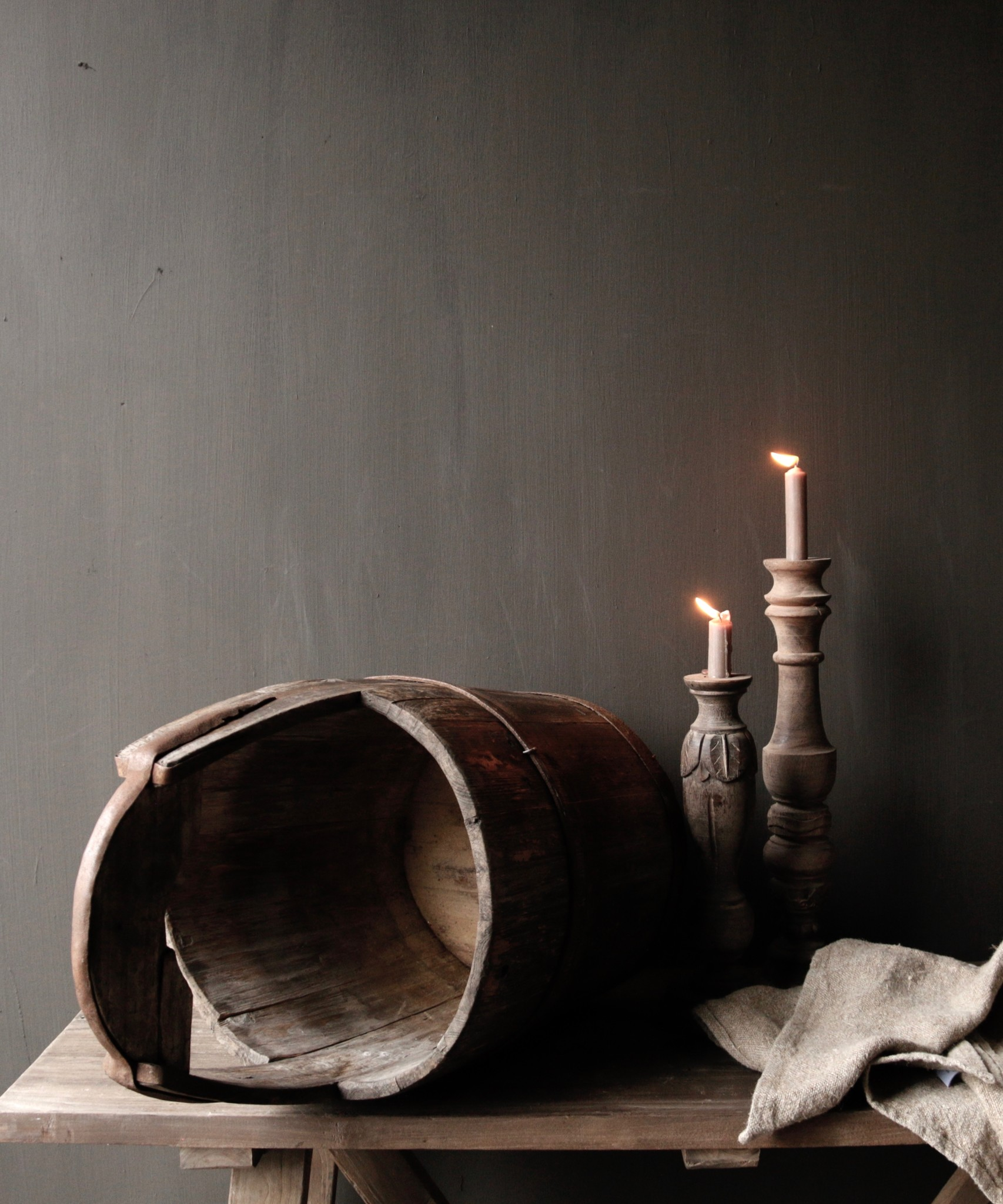 Authentic old wooden bucket-3