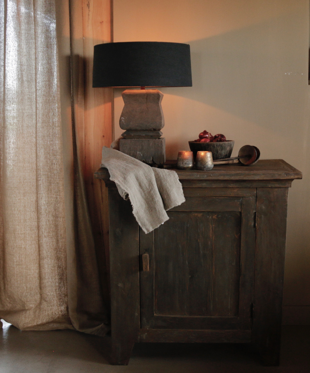 Beautiful Tough Rural old wooden cabinet-1