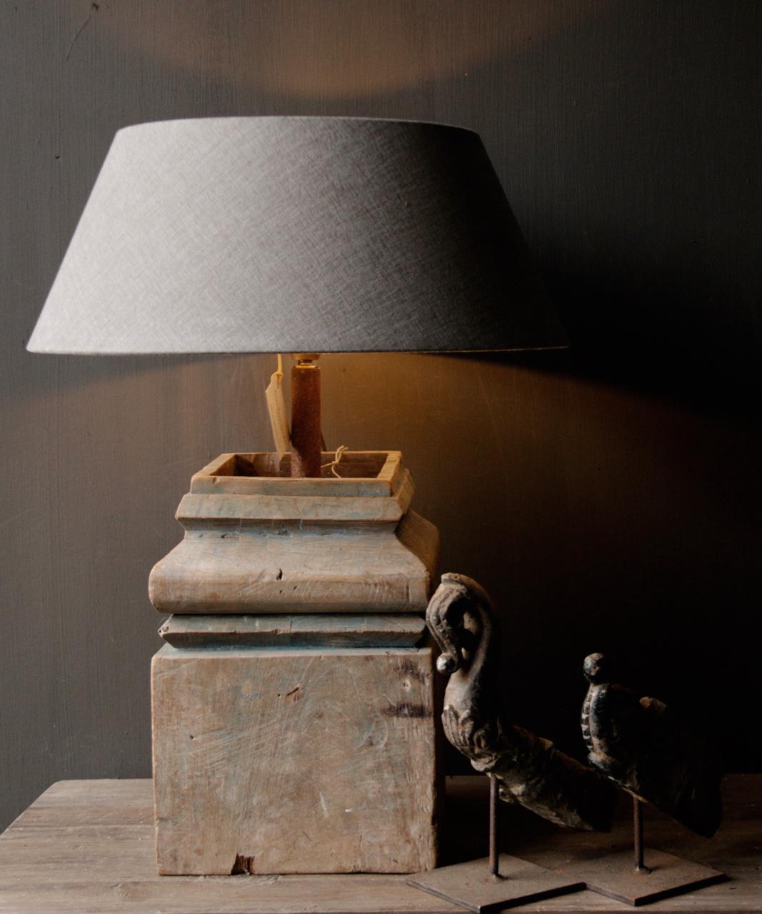 Houten Baluster lamp-1