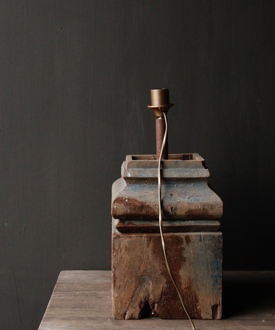 Houten Baluster lamp-3
